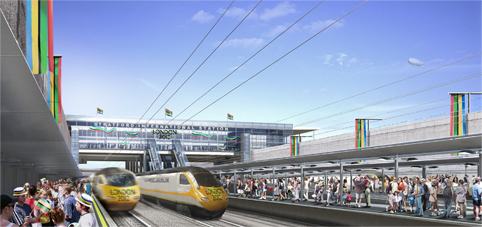 stratford station with javelin train